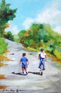 """""""School is Out!"""" original fine art by JoAnne Perez Robinson"""