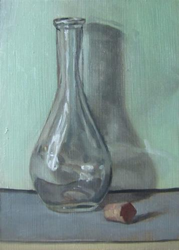 """""""31 -- Bottle on Green"""" original fine art by Ed Watson"""
