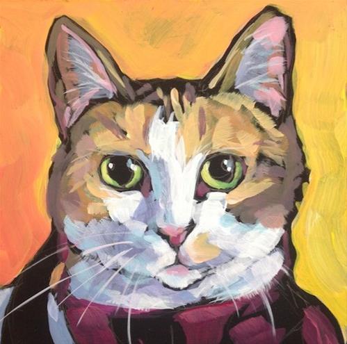 """March 18, Mascara!"" original fine art by Kat Corrigan"