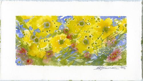 """""""More Happy Yellow"""" original fine art by Eileen Hennemann"""