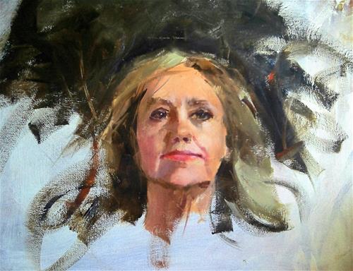 """head sketch/ Martha"" original fine art by Richard Schiele"