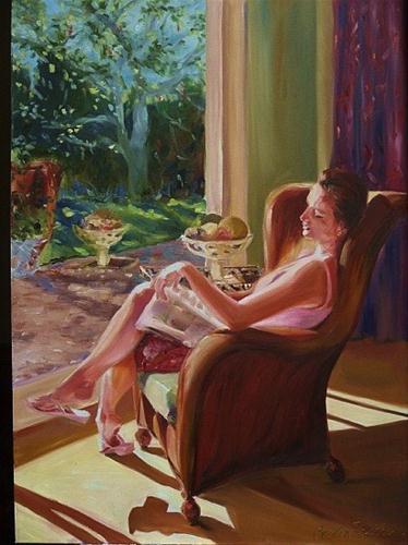 """Five minute's peace"" original fine art by Cecilia Rosslee"
