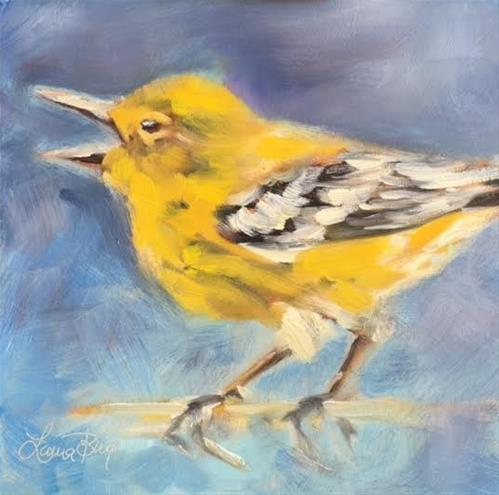 """Yellow Bellied Sap Sucker 474"" original fine art by Laura  Buxo"