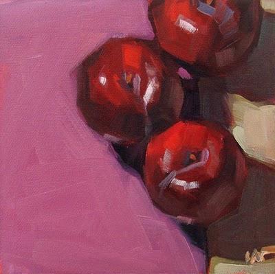 """Tiptoe into Lavendar --- SOLD"" original fine art by Carol Marine"