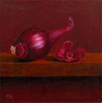 """Red Onion"" original fine art by Pera Schillings"