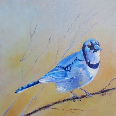 """""""Outta the Blue, Oil painting by Linda McCoy"""" original fine art by Linda McCoy"""