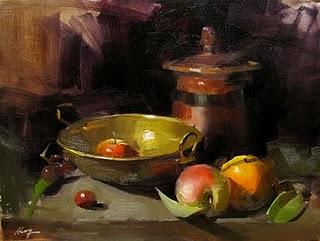 """Brass Cradle --- Sold"" original fine art by Qiang Huang"