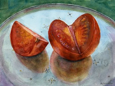 """Watercolor: Holland on Evening Star"" original fine art by Belinda Del Pesco"