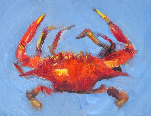 """Blue Crab, Food Series, Oil Painting by AZ Artist Amy Whitehouse"" original fine art by Amy Whitehouse"