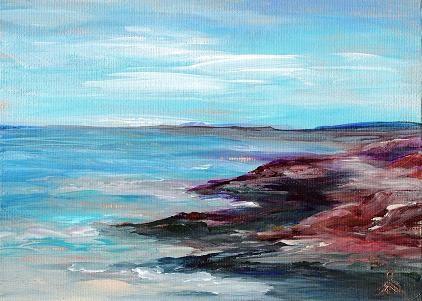 """3077 - Rocky Shore"" original fine art by Sea Dean"