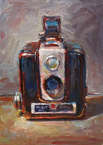 """""""Brownie Hawkeye Camera"""" original fine art by Raymond Logan"""