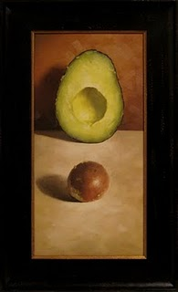 """Avocado with Pit"" original fine art by Michael Naples"