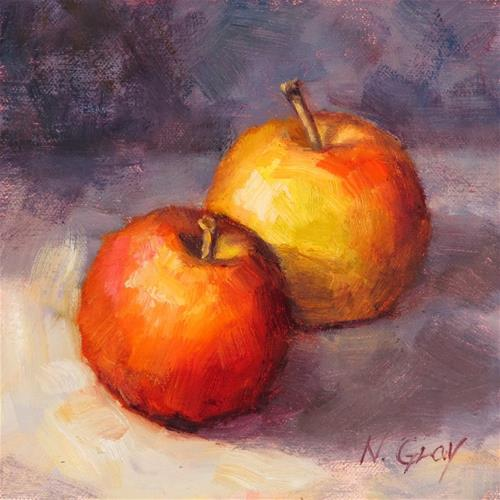"""Two Gala Apples"" original fine art by Naomi Gray"