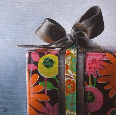 """""""The 2nd Gift"""" original fine art by Jelaine Faunce"""