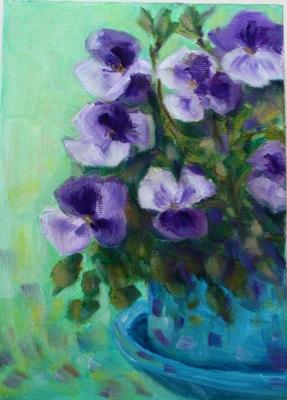 """Pansy Purple"" original fine art by Maggie Flatley"