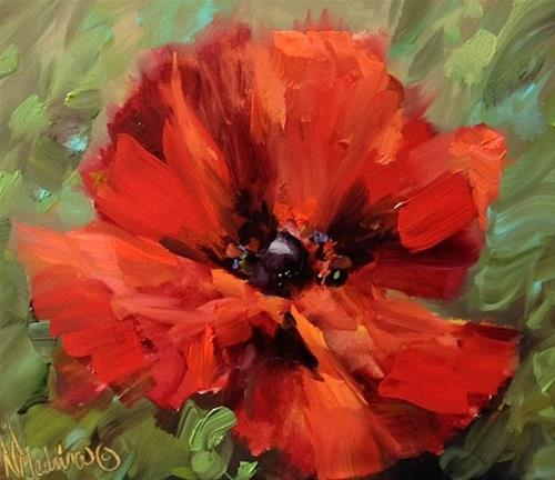 """Crescendo Poppy"" original fine art by Nancy Medina"