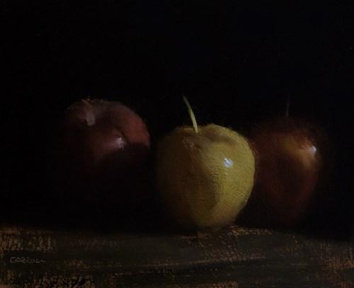 """Yellow Apple"" original fine art by Neil Carroll"