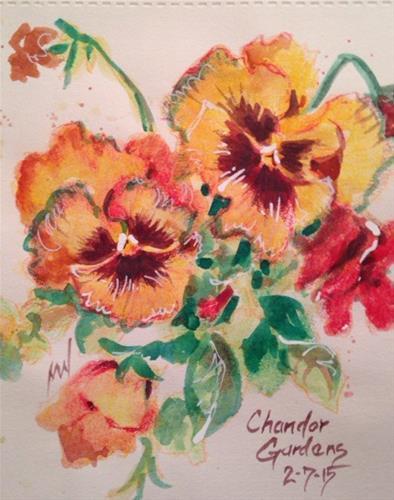 """Pansies Galore"" original fine art by Margie Whittington"