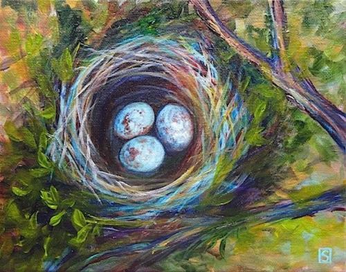 """2072 - Framed - Gone Cuckoo"" original fine art by Sea Dean"