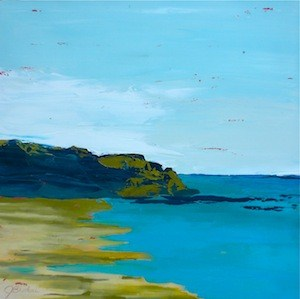 """Makena Shore"" original fine art by Janet Bludau"