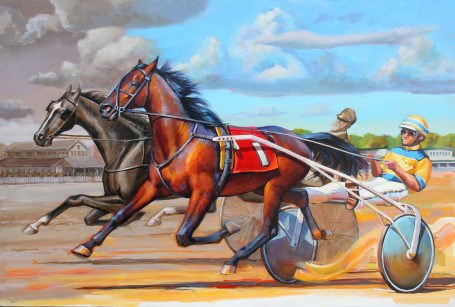 """Racing History"" original fine art by Lesley Spanos"