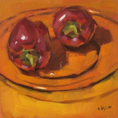 """Color Triad"" original fine art by Carol Marine"
