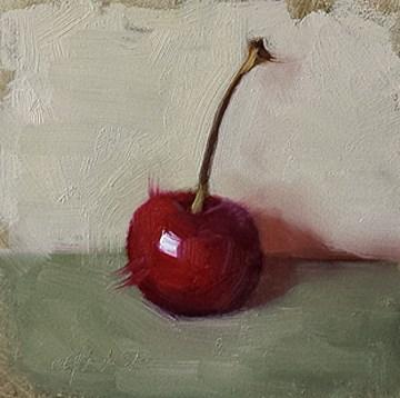 """January Cherry"" original fine art by Cindy Haase"
