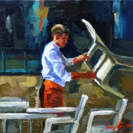 """on preparing"" original fine art by Jurij Frey"