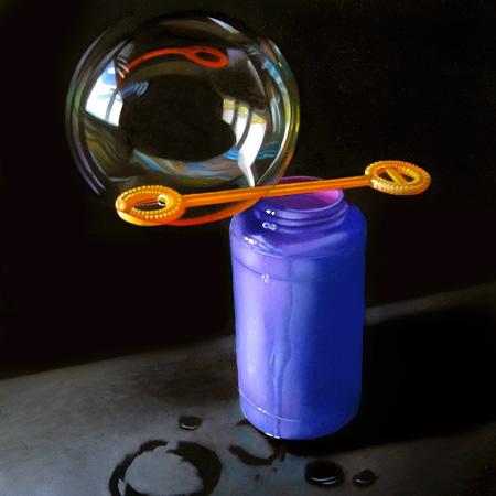 """""""Bubbles 8x8"""" original fine art by M Collier"""