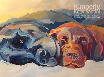 """Besties, In Process"" original fine art by Kimberly Santini"