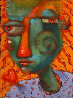 """Heart On Her Sleeve"" original fine art by Brenda York"