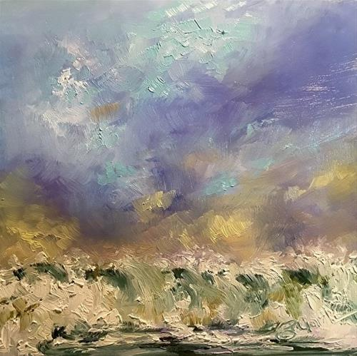 """Wave Study 7, 6 x 6,  Oil, Seascape"" original fine art by Donna Pierce-Clark"
