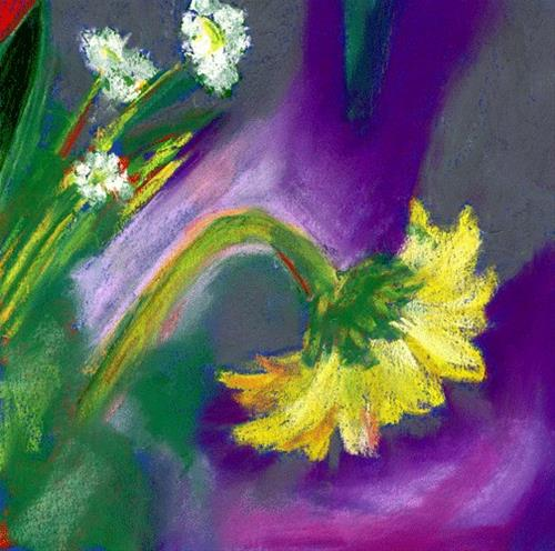 """Mellow Yellow"" original fine art by Donna Crosby"