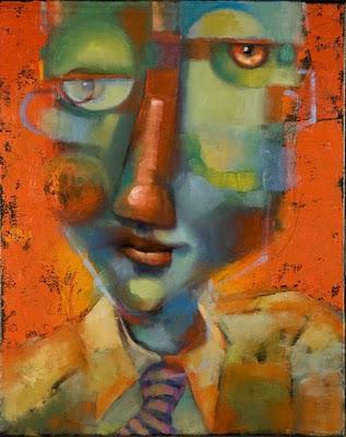 """Guys In Ties #5, Armando's Secret Code"" original fine art by Brenda York"