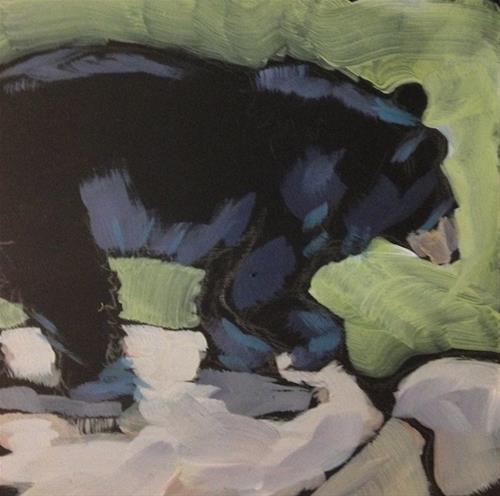 """Bearly On The Edge"" original fine art by Kat Corrigan"