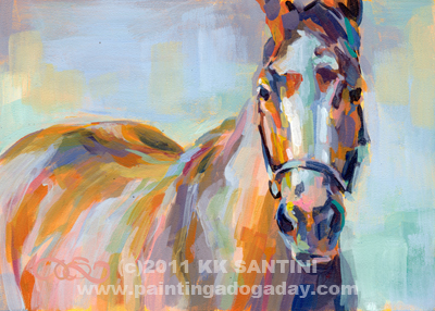 """For Her Eyes Only, from The Saratoga Series"" original fine art by Kimberly Santini"