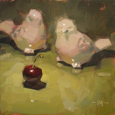 """Don't Act Suspicious"" original fine art by Carol Marine"