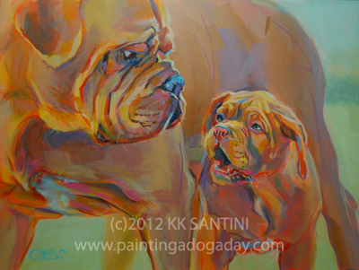 """But, Mom...."" original fine art by Kimberly Santini"