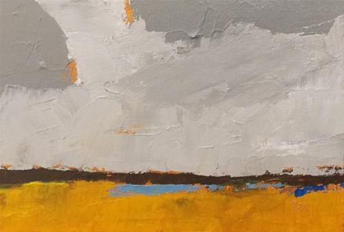 """""""Golden Field"""" original fine art by Pamela Munger"""