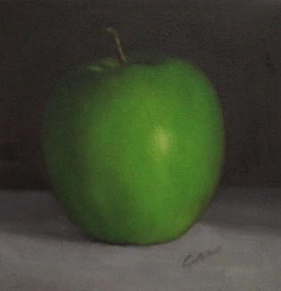 """""""Granny Smith Apple"""" original fine art by Michelle Garro"""