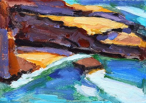 """Ocean Beach"" original fine art by Kevin Inman"
