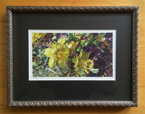 """Between Branches Framed"" original fine art by Nicoletta Baumeister"