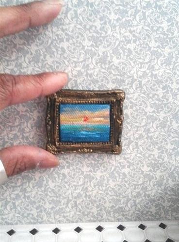 """1:6 Scale Sunset Seascape"" original fine art by Camille Morgan"