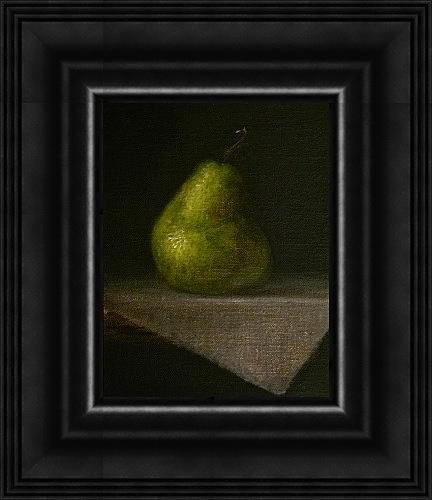 """Packham Pear"" original fine art by MeeLi Lee"