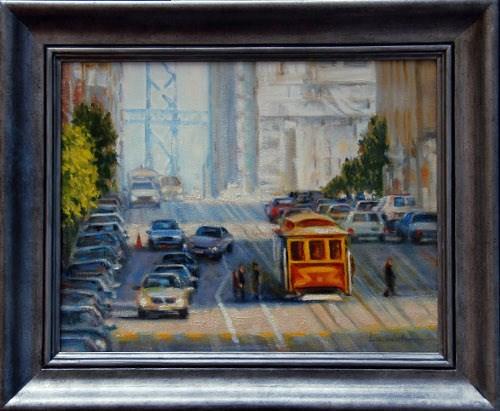 """BAY BRIDGE VIEW"" original fine art by Dj Lanzendorfer"