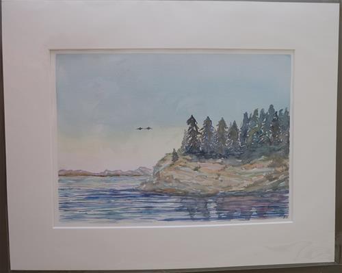 """""""Morning Arrival"""" original fine art by Laura Denning"""