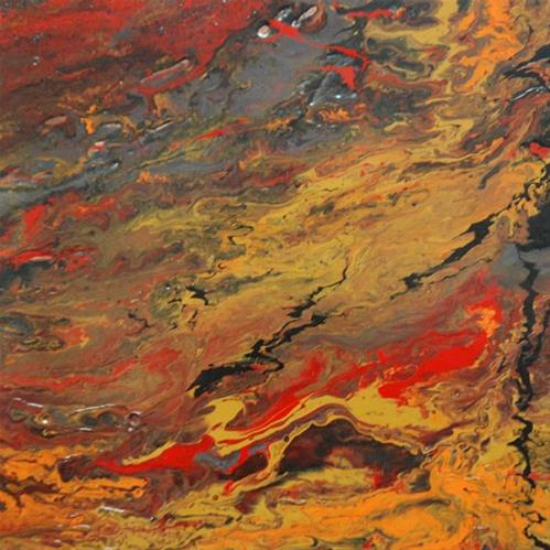 """""""4 - Forge, or battle between the substance and the fire"""" original fine art by Olga Touboltseva-Lefort"""