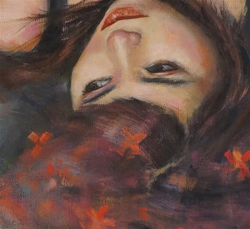"""Fauve Girl"" original fine art by Rhea  Groepper Pettit"
