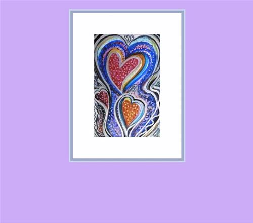 """6024 - The Party Heart - Happy Heart I"" original fine art by Sea Dean"