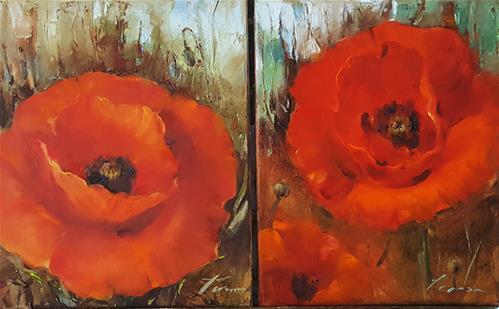 """poppy01"" original fine art by Teresa Yoo"